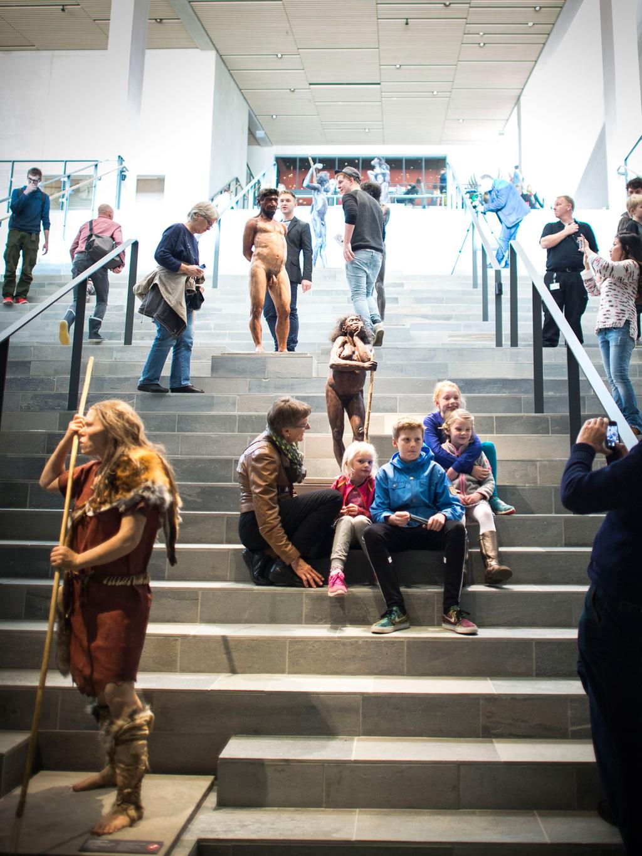 Evolutionstrappan på MOMU. Foto: Medieafdelingen - Moesgaard Museum