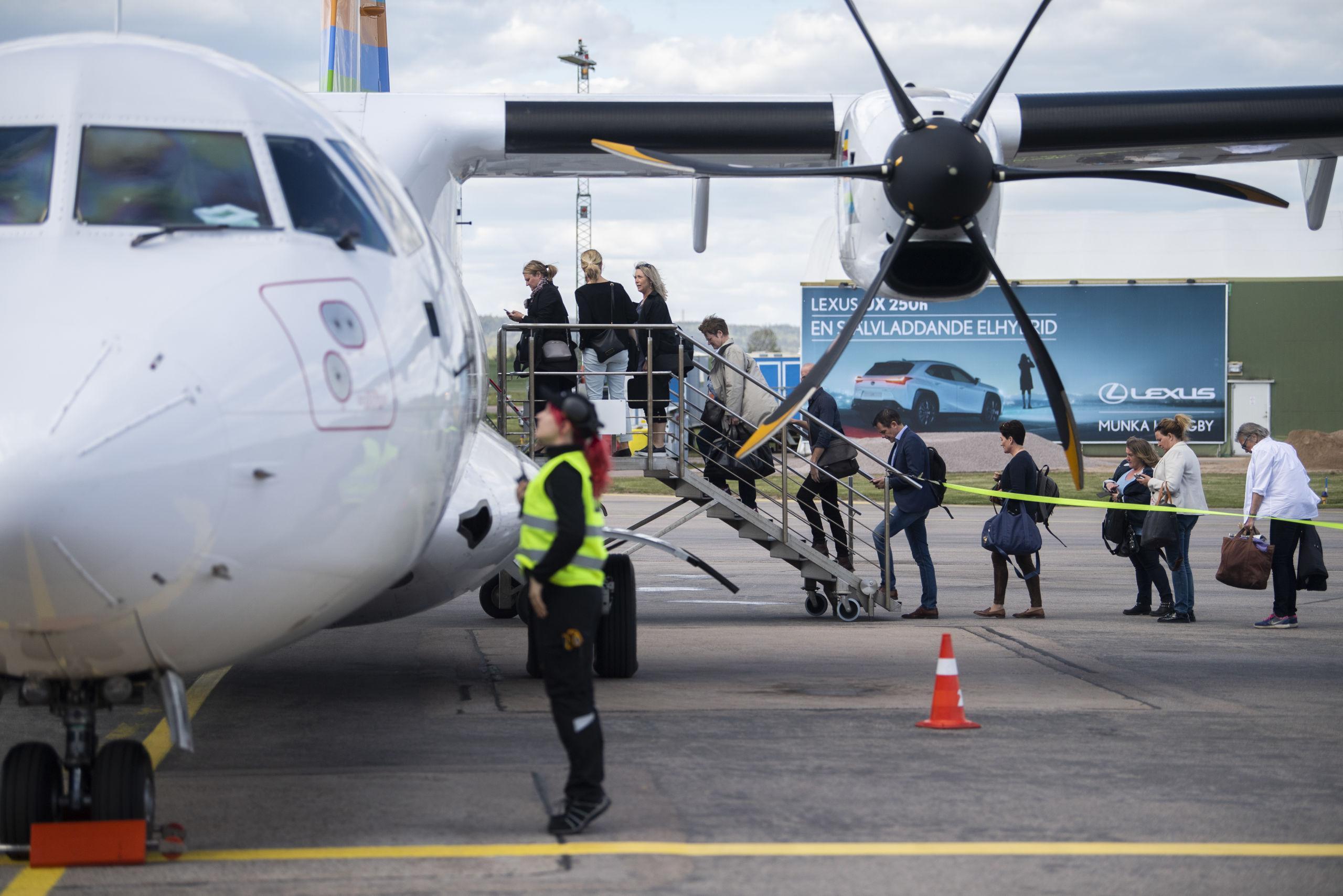 Flygbolaget Bra slutar flyga till Halmstad