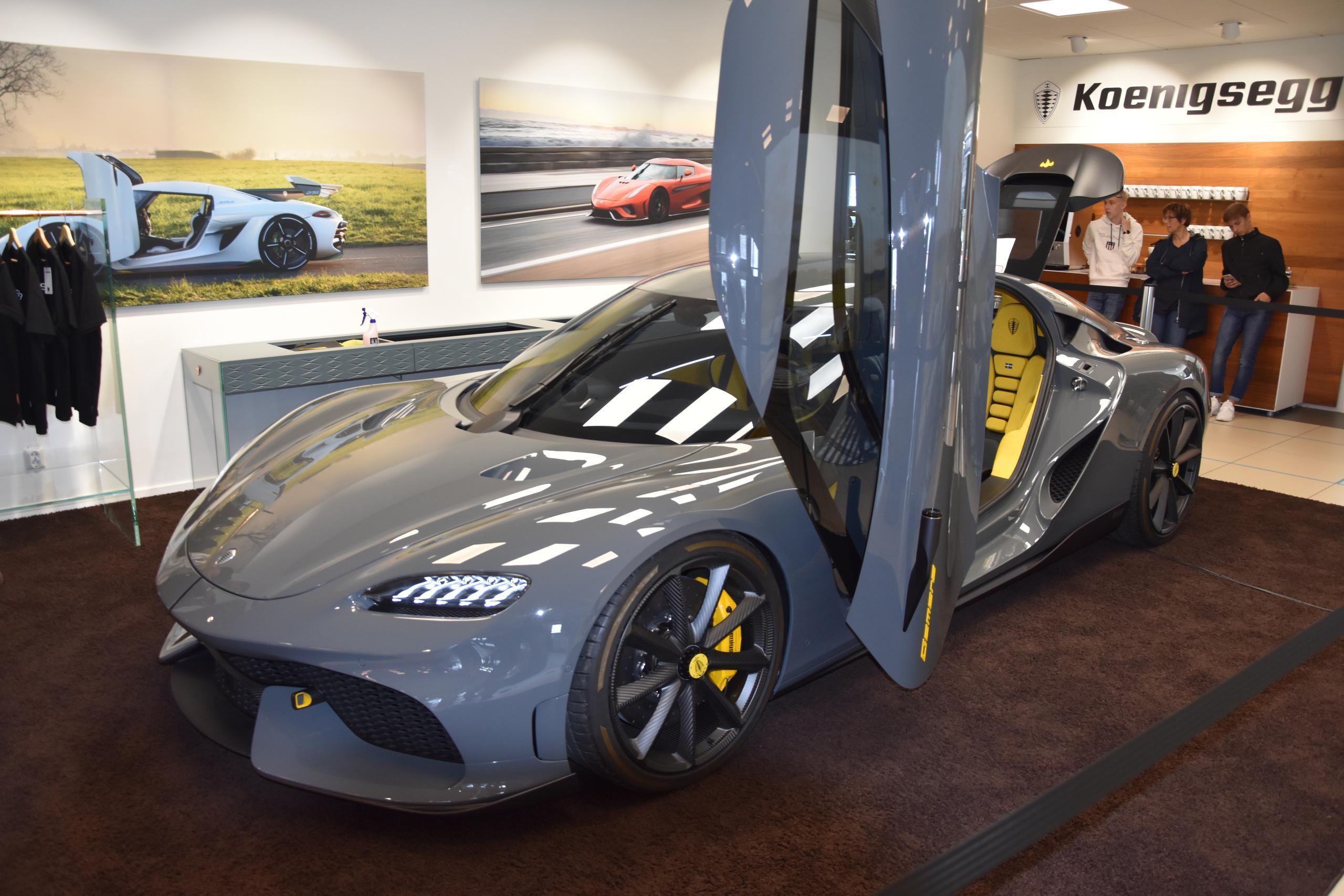 Supersportbilen gör sitt första stopp i Halmstad