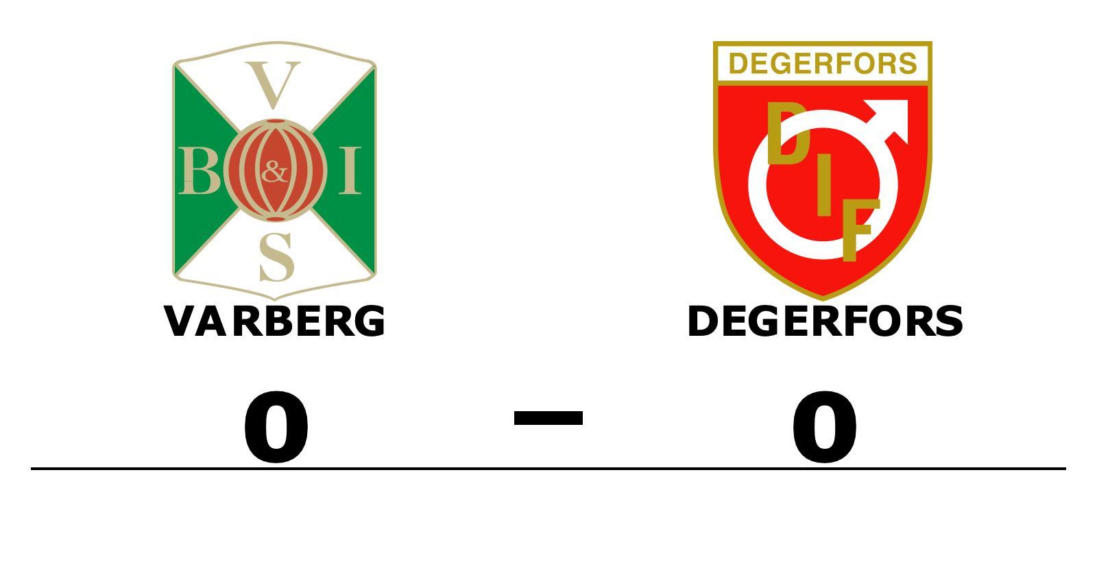 Varberg och Degerfors kryssade i mållös match